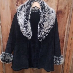 Wilsons Leather & Faux Fur Coat